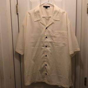 Port Authority cream short sleeve shirt